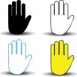 Hand icons — Stock Photo