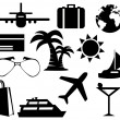 Stock Photo: Tourism set icons