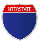 Interstate Sign — Stock Photo