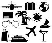 Toerisme ingesteld pictogrammen — Stockfoto