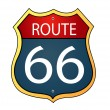 Stock Photo: Glossy route sixty six icon