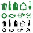 Vector recycle signs — Stock Photo