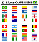 Soccer championship 2014 — Stock Photo