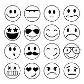 Vector emotional face icons  — Stock Photo
