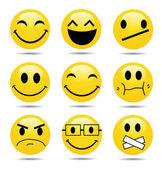 Vector Smile Icon Set — Stock Photo