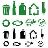 Vektor återvinna tecken — Stockfoto