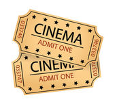 Cinema tickets  — Stockfoto