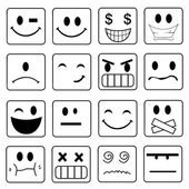 Vector Smile Icon Set  — Stock Photo