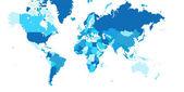 Mapa do mundo — Fotografia Stock