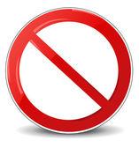 Illustration of prohibited sign  — Stock Photo