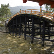 Bridge at Itsukushima Shrine — Stock Photo