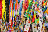 Thousand origami cranes — Stock Photo