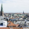 View on the Roofs of Copenhagen, Denmark — Stock Photo