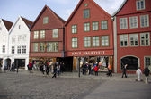 Old colored houses from Bergen, Norway — Stock Photo