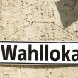 Stock Photo: German election sign Wahllokal