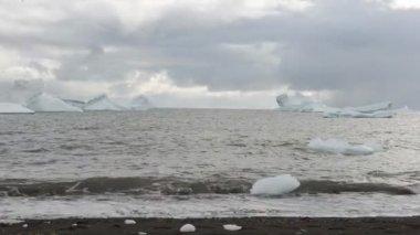 Ijsbergen — Stockvideo