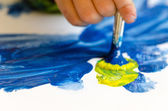 Child painting — Foto Stock
