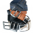 Stock Photo: Five belts lie on each other