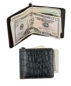Wallet with moneyclip — Stock Photo