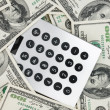 Background money   and a calculator  — Stock Photo