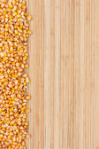 Corn on a bamboo mat — Stock Photo