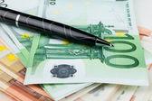 El mango es sobre el euro — Foto de Stock