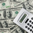 Calculator and dollars closeup. — Stockfoto #29934091