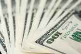 Close-up of one hundred dollars — Stock Photo