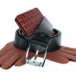 Mens wallet, belt and gloves — Stock Photo #31794375