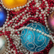 Christmas ball and decoration — Stock Photo