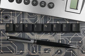 Keyboard keys laid out the word business  — Stock Photo
