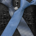 Постер, плакат: A necktie and cufflinks lying on the skin