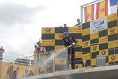 EuroNascar series Spain, podium — Stock Photo
