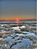 Formentera island sunset, La Savina lighthouse in Formentera — Stock Photo
