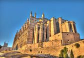 Cathedral Palma de Mallorca in HDR at Balearic islands. Spain — Stock Photo