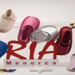 Menorca shoes — Stock Photo