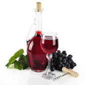 Butelka czerwonego wina — Zdjęcie stockowe