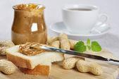 Peanut butter sandwhich — Stock Photo
