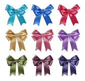 Set of ribbon bows — Stock Photo