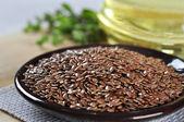 Flax seeds closeup — Stock Photo