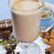 Cocoa in a glass cup — Stock Photo