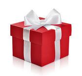 červená dárková krabička — Stock fotografie