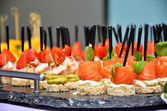 Salmon canapes — Foto Stock