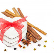Stock Photo: Gingerbread cookies with red ribbon