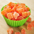 Candied papaya — Stock Photo