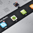 Social Media Applications on Ipad - Stock Photo