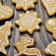 Christmas Ginger and Honey cookies — Stock Photo #19906595