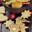 Christmas Ginger and Honey cookies — Stock Photo #19906599