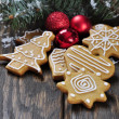 Christmas Ginger and Honey cookies — Stock Photo #19906603