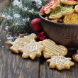Christmas Ginger and Honey cookies — Stock Photo #19906605
